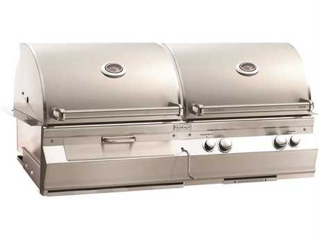 Fire Magic Dual Hood Charcoal and Gas grill built in