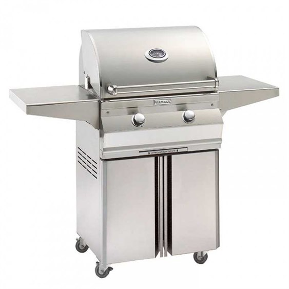 Fire Magic Stainless Steel Choice 24'' C430 On Cart Analog Patio BBQ Grill