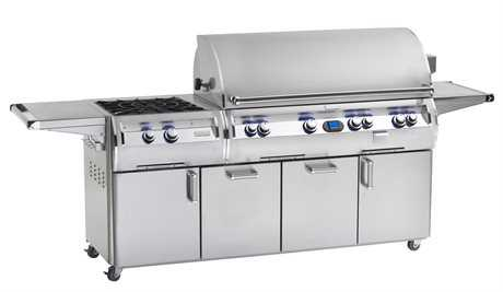 Fire Magic Echelon Diamond Stainless Steel 48'' On Cart Digital Patio BBQ Grill with Power Burner PatioLiving