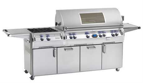 Fire Magic Echelon Diamond Stainless Steel 48'' On Cart Digital Magic View Patio BBQ Grill with Power Burner PatioLiving