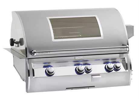 Fire Magic Echelon Diamond Stainless Steel 30'' Built-in Analog Magic View Patio BBQ Grill