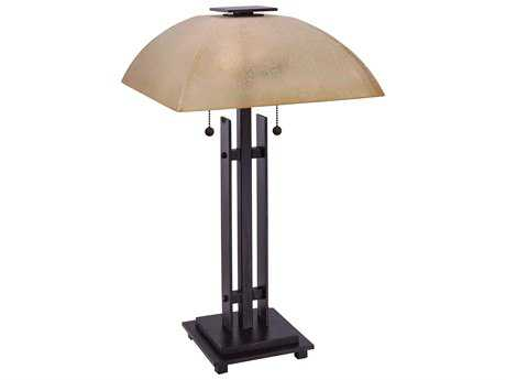 Minka Lavery Lineage Iron Oxide Two-Light Table Lamp