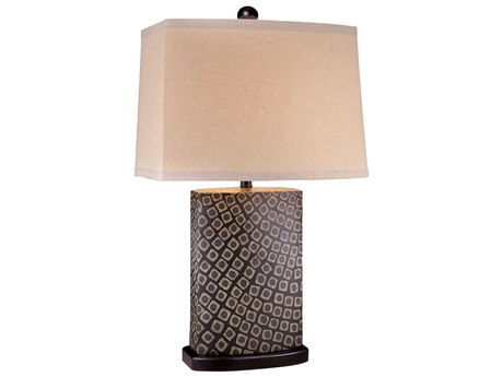 Minka Lavery Ambience Black / Beige Oak Cream Buffet Lamp