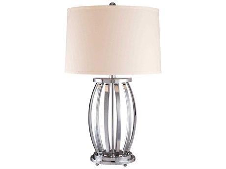 Minka Lavery Ambience Chrome White Buffet Lamp