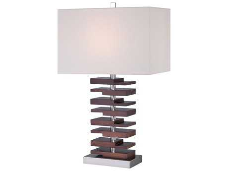 Minka Lavery Walnut Buffet Lamp