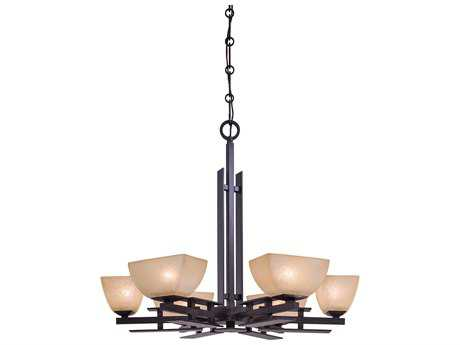 Minka Lavery Lineage Iron Oxide 29'' Wide Six-Light Chandelier