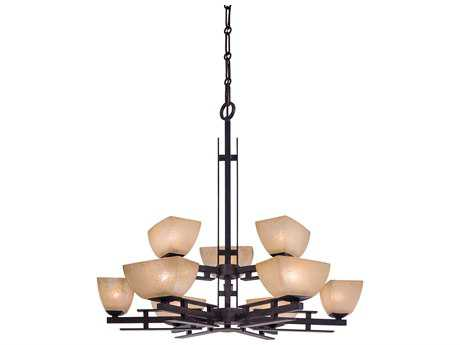 Minka Lavery Lineage Iron Oxide 33'' Wide Nine-Light Chandelier