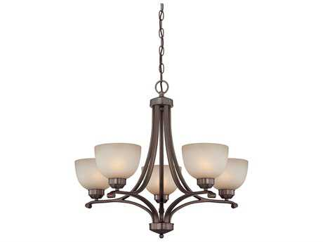 Minka Lavery Paradox Harvard Court Bronze 27'' Wide Five-Light Mini Chandelier