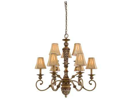 Minka Lavery Salon Grand Florentine Patina 33'' Wide Nine-Light Chandelier