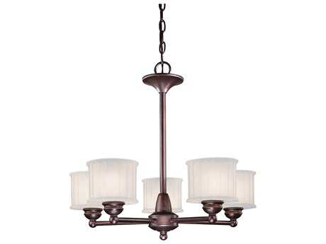 Minka Lavery 1730 Series Lathan Bronze 24'' Wide Five-Light Chandelier
