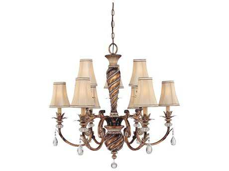 Minka Lavery Aston Court Bronze 33'' Wide Nine-Light Chandelier