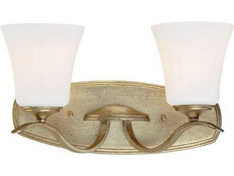 Minka Lavery Laurel Estate Brio Gold Two-Light Vanity Light