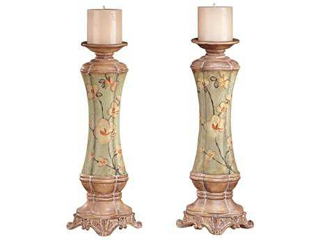 Minka Lavery Jessica McClintock Home Adalia Candle Holder (2 Piece Set)