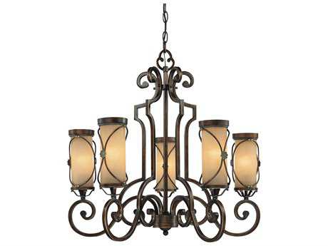 Minka Lavery Atterbury Deep Flax Bronze 28.5'' Wide Five-Light Chandelier