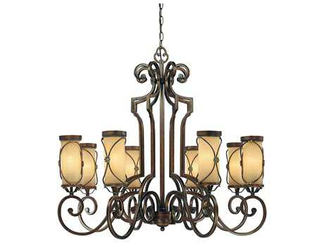 Minka Lavery Atterbury Deep Flax Bronze 36'' Wide Eight-Light Chandelier