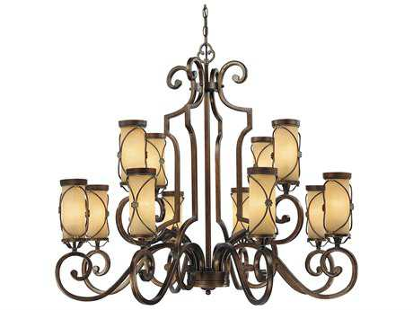 Minka Lavery Atterbury Deep Flax Bronze 43'' Wide 12-Light Chandelier
