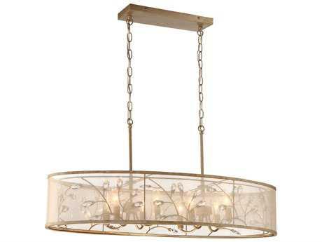 Minka Lavery Sara's Jewel Nanti Champaign Silver Eight-Light 36'' Long Island Light
