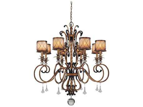 Minka Lavery Aston Court Bronze 38'' Wide Eight-Light Chandelier