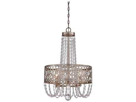 Minka Lavery Lucero Florentine Silver 18'' Wide Four-Light Chandelier