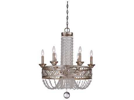 Minka Lavery Lucero Florentine Silver 24'' Wide Nine-Light Chandelier