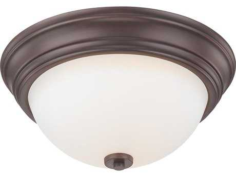 Minka Lavery Middlebrook Vintage Bronze 13'' Wide Two-Light Flush Mount Light