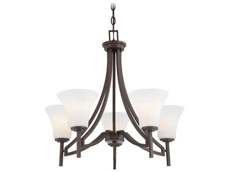 Minka Lavery Middlebrook Vintage Bronze 25'' Wide Five-Light Chandelier