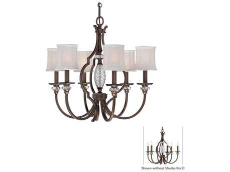 Minka Lavery Thorndale Dark Noble Bronze 26'' Wide Six-Light Chandelier
