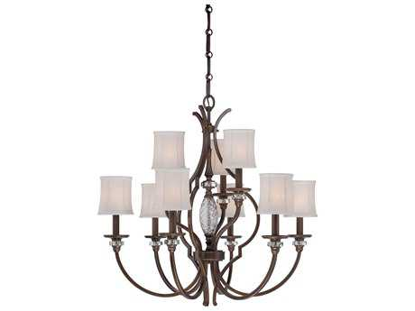 Minka Lavery Thorndale Dark Noble Bronze 32'' Wide Nine-Light Chandelier