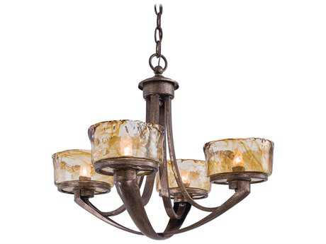Minka Lavery La Bohem Monarch Bronze 22'' Wide Four-Light Chandelier