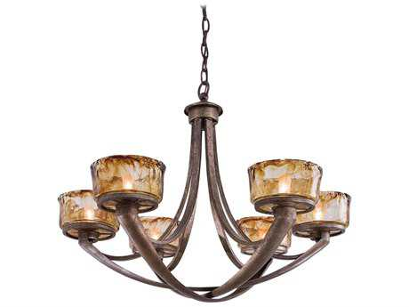 Minka Lavery La Bohem Monarch Bronze 30'' Wide Six-Light Chandelier