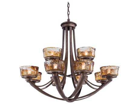Minka Lavery La Bohem Monarch Bronze 36'' Wide 12-Light Chandelier