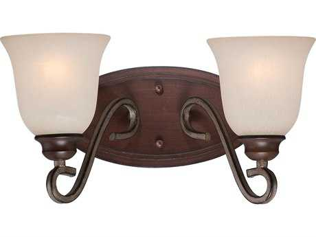 Minka Lavery Gwendolyn Place Dark Rubbed Sienna with Aged Silver Two-Light Vanity Light