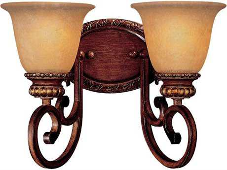 Minka Lavery Belcaro Walnut Two-Light Vanity Light