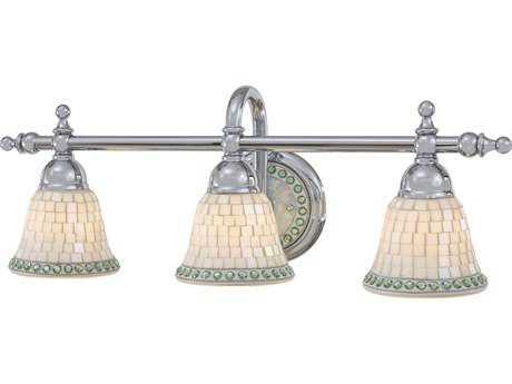 Minka Lavery Piastrella Chrome Three-Light Vanity Light