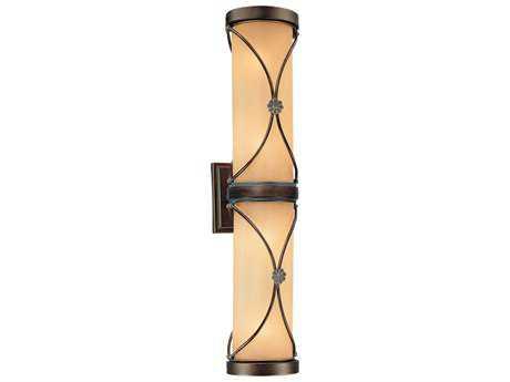 Minka Lavery Atterbury Deep Flax Bronze Four-Light Wall Sconce