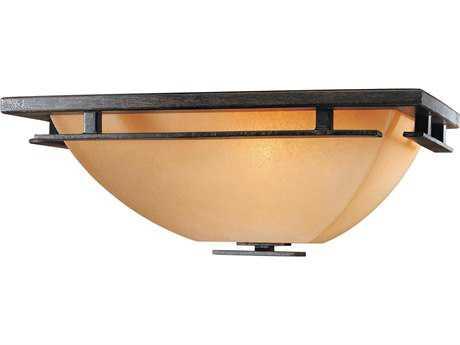 Minka Lavery Lineage Iron Oxide 15'' Wide Flush Mount Light