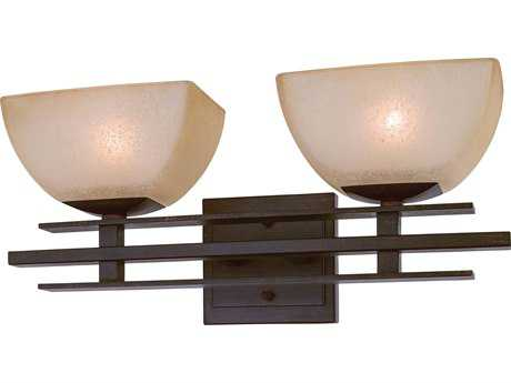 Minka Lavery Lineage Iron Oxide Two-Light Vanity Light