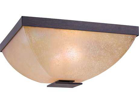 Minka Lavery Lineage Iron Oxide 13'' Wide Two-Light Flush Mount Light