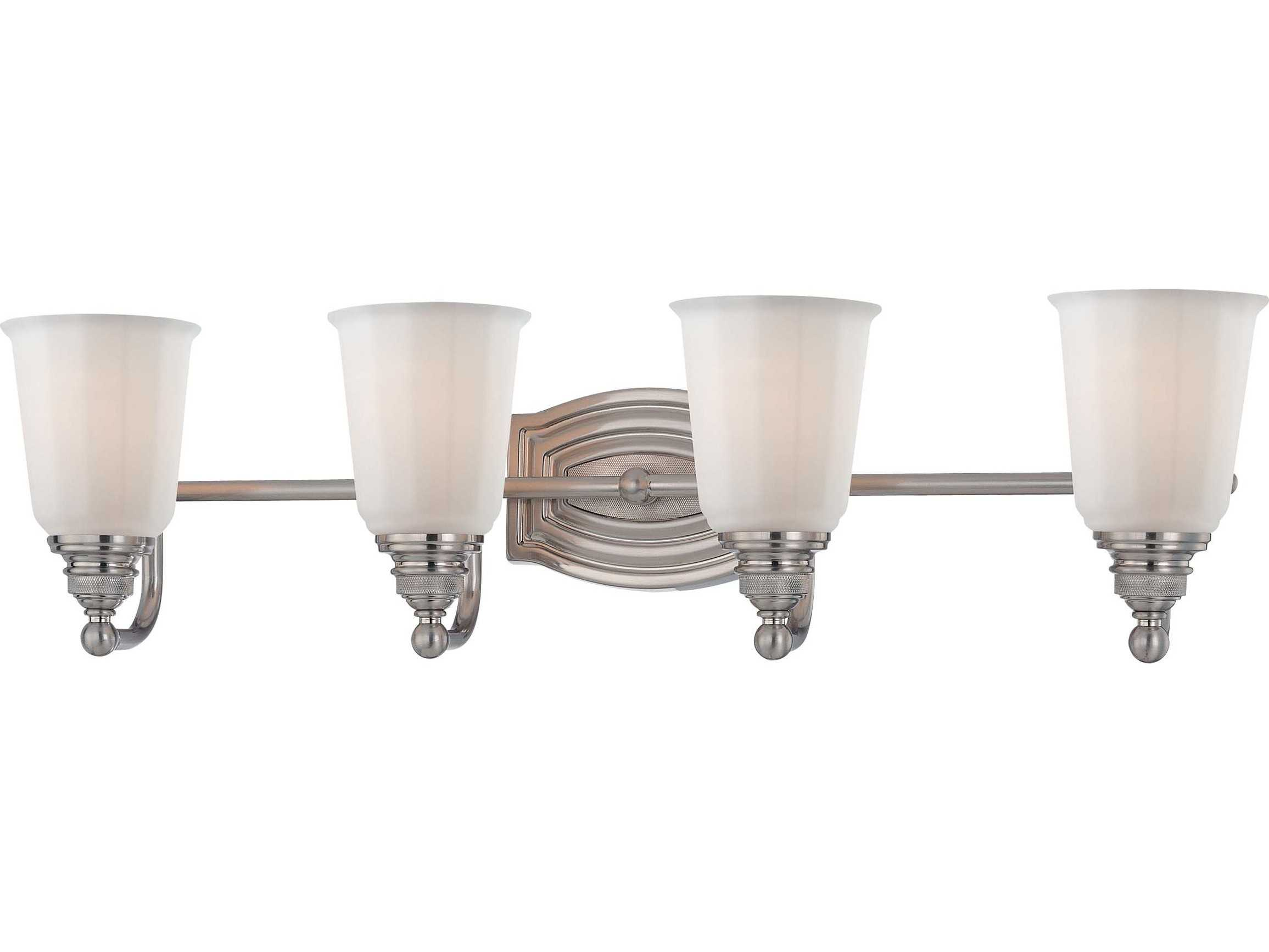 Minka Lavery Vanity Light In Brushed Nickel : Minka Lavery Clairemont Brushed Nickel Four-Light Vanity Light MGO645484