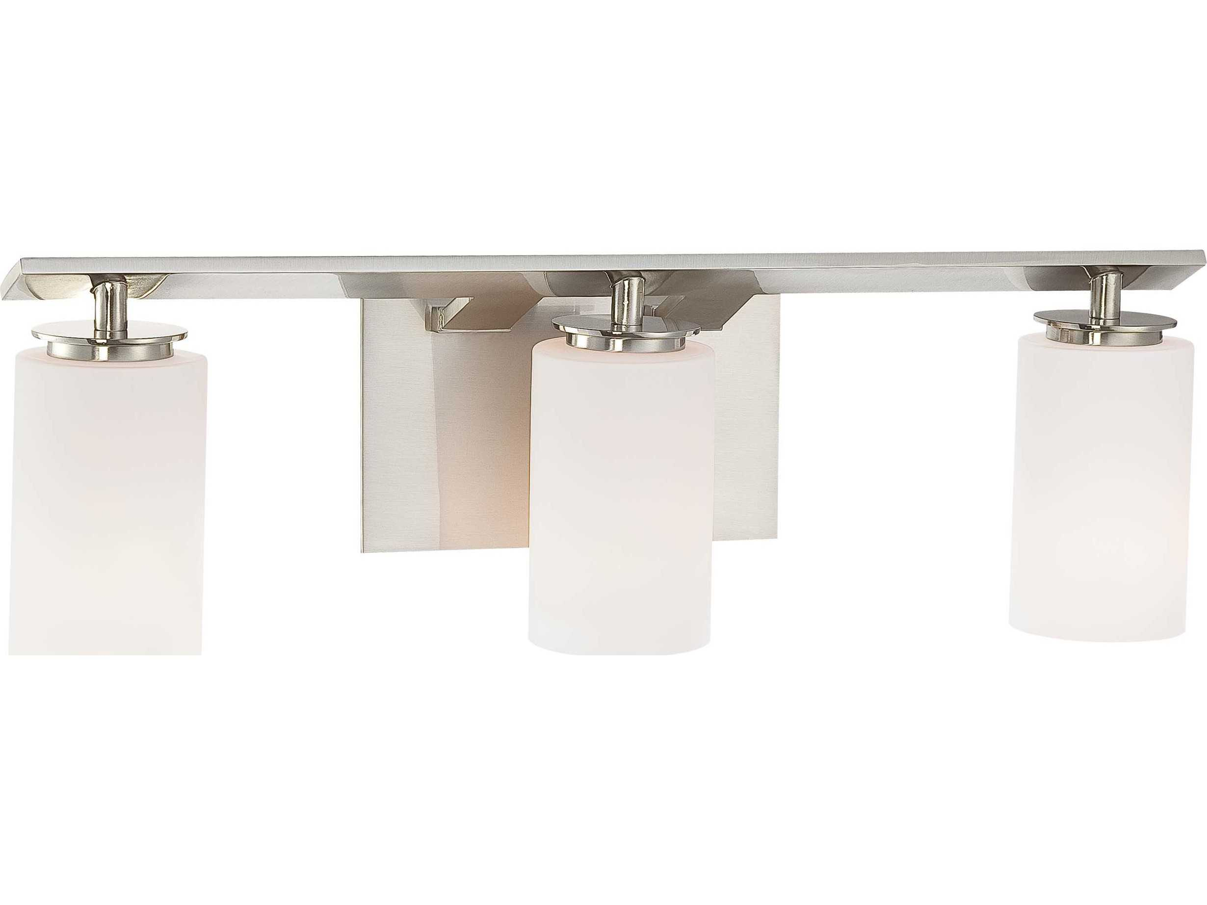 Vanity Lights Cyber Monday : Minka Lavery Inoui Brushed Nickel Three-Light Vanity Light MGO655384