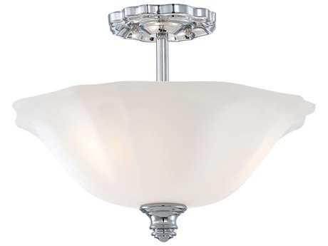 Minka Lavery Felice Chrome 15'' Wide Three-Light Semi-Flush Mount Light