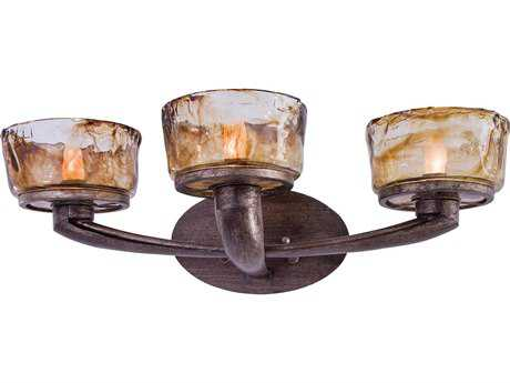 Minka Lavery La Bohem Monarch Bronze Three-Light Vanity Light