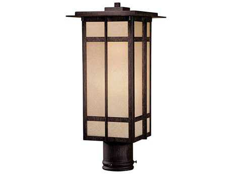 Minka Lavery Delancy Iron Oxide Outdoor Post Light