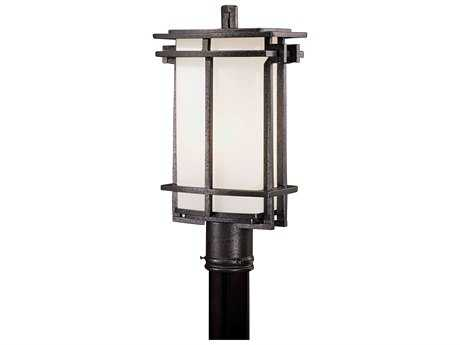 Minka Lavery Lagarno Square Forged Silver Outdoor Post Light