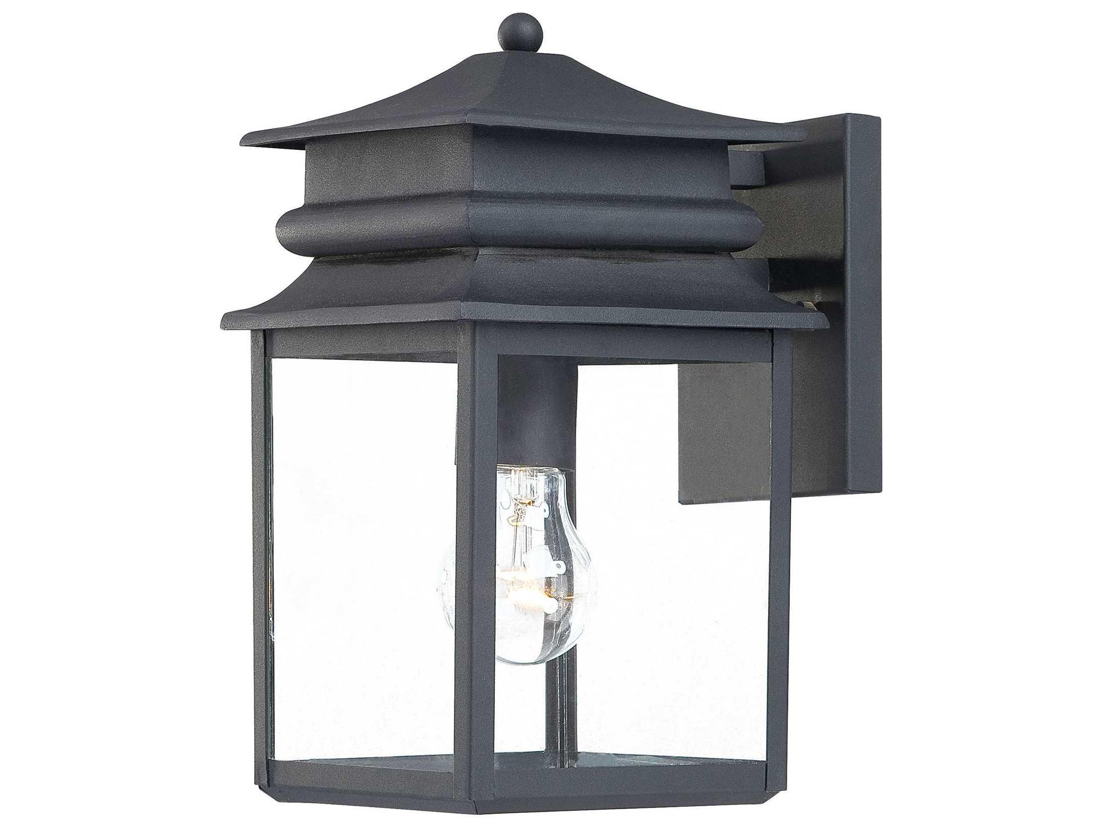 Minka Lavery Winward Manor Black Outdoor Wall Light 72281 66