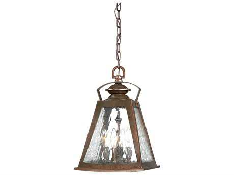 Minka Lavery Oxford Road Architectural Bronze Four-Light Outdoor Hanging Light
