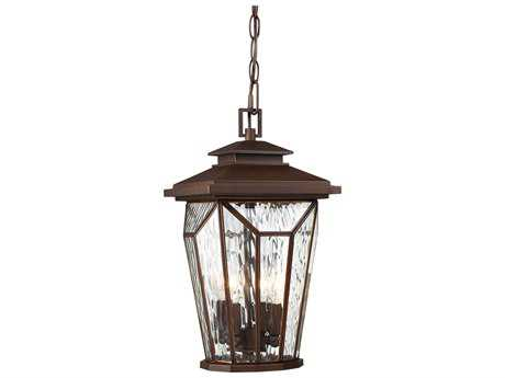 Minka Lavery Satomi Alder Bronze Four-Light Outdoor Hanging Light