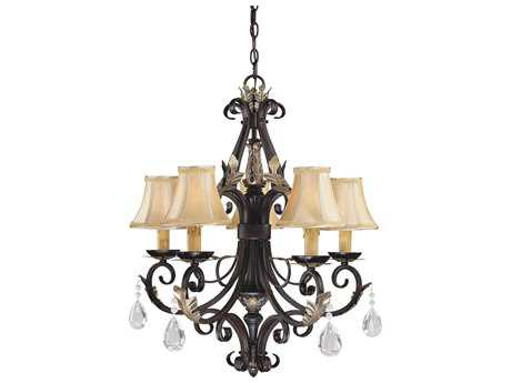 Minka Lavery Bellasera Castlewood Walnut with Silver Highlights 24.5'' Wide Five-Light Chandelier