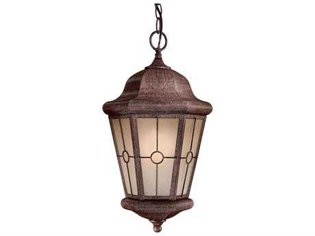 Minka Lavery Montellero Vintage Rust Outdoor Hanging Light