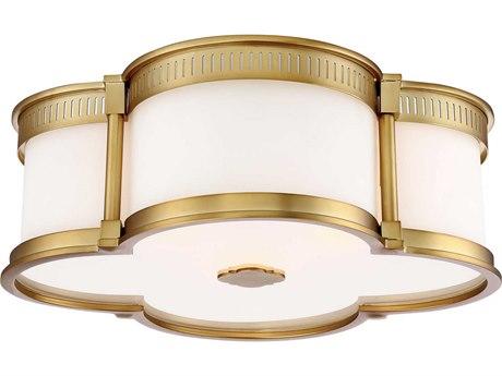 Minka Lavery Liberty Gold Three-Lights 16'' Wide Flush Mount Light